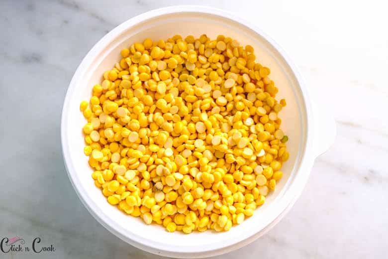 channa in white bowl