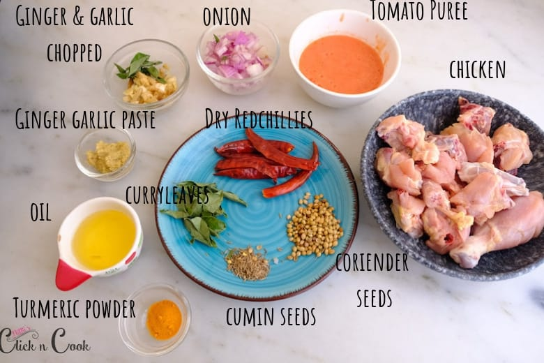 Ingredients to make chicken chop are displayed in small bowls