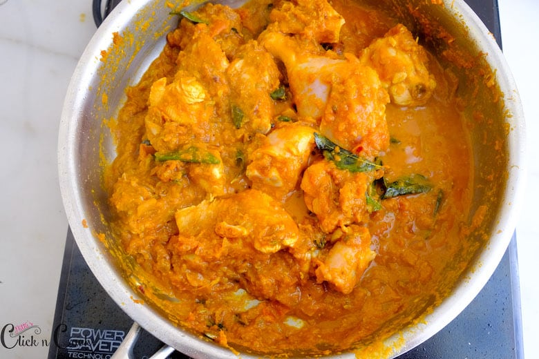chicken masala gravy is ready to be served.