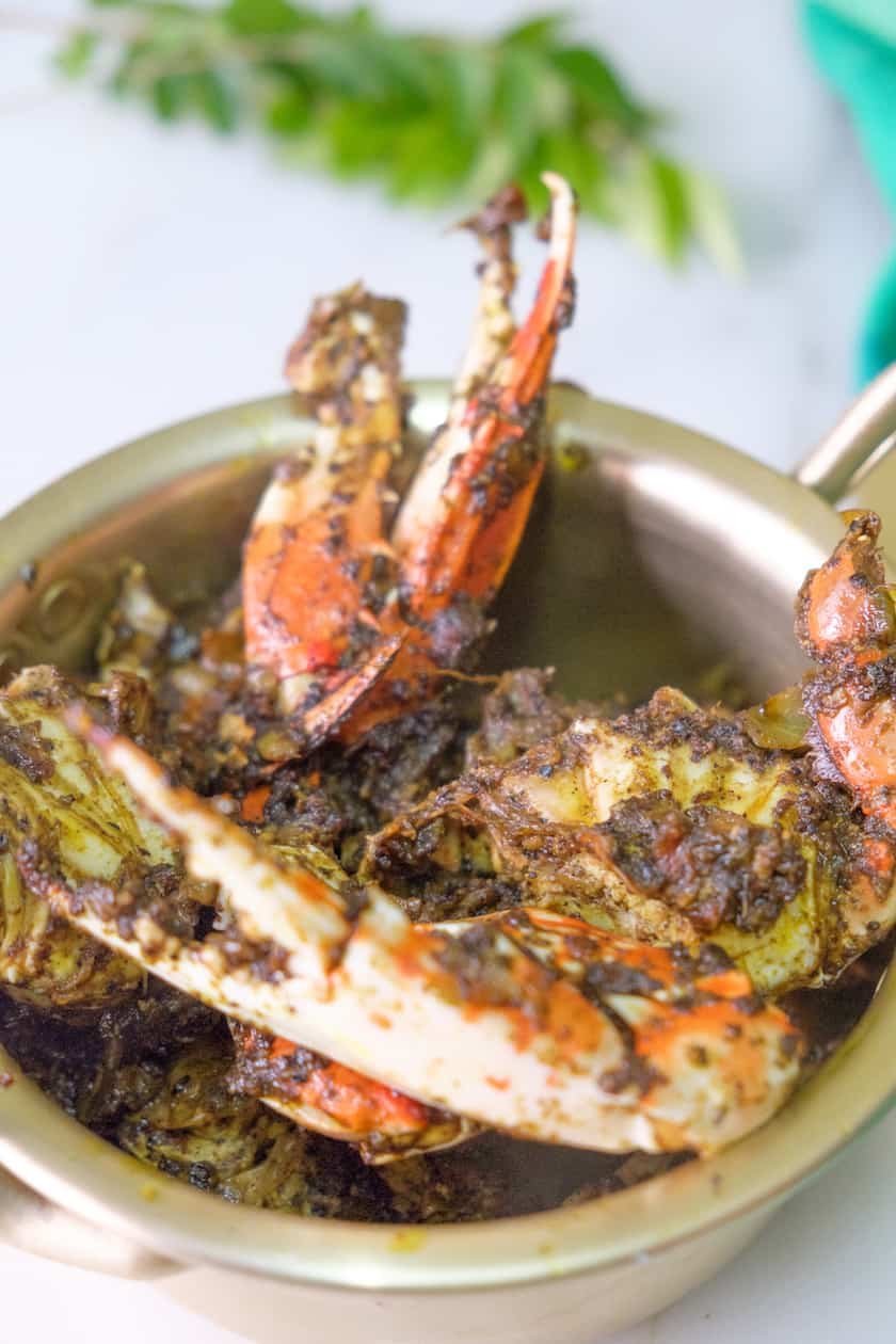 curry leaves crab pepper fry