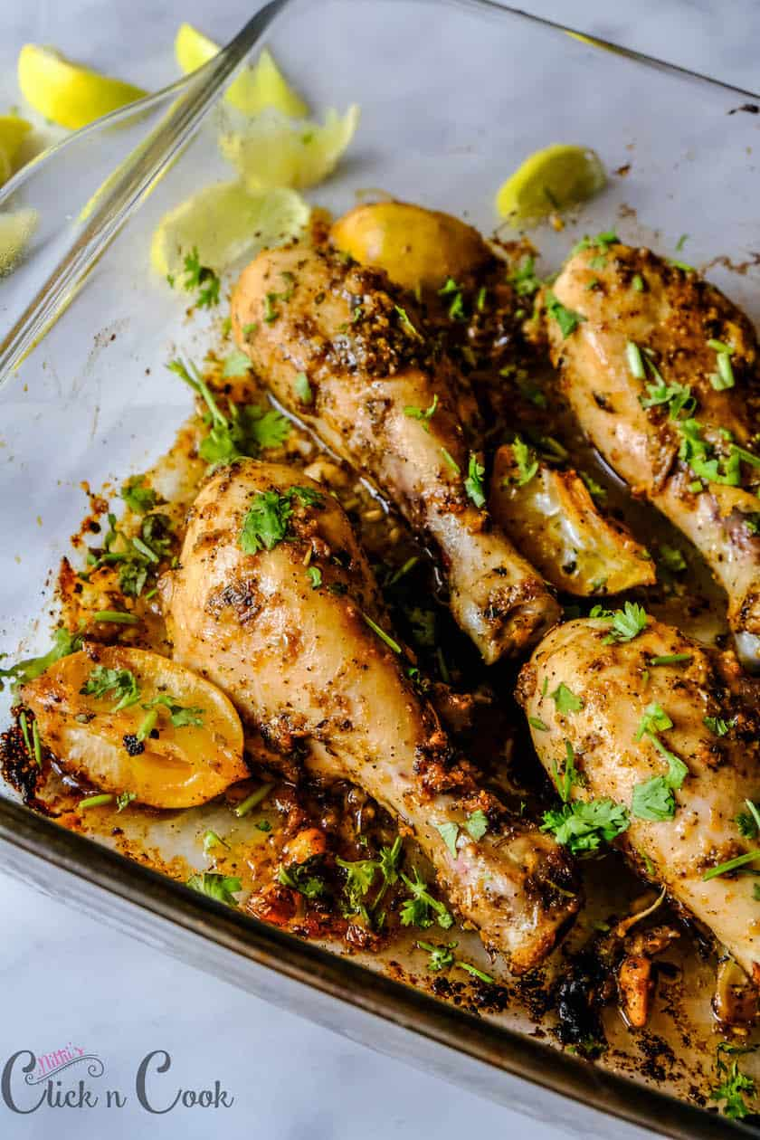 Juicy & Tasty Lemon Garlic Chicken is ready to serve.. !!!