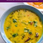 Dal Palak served in bowl