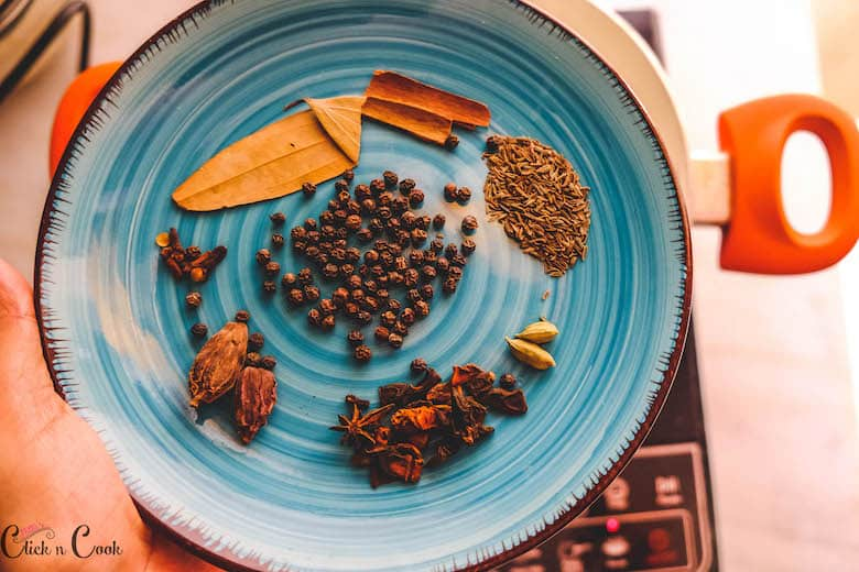a plate of spices