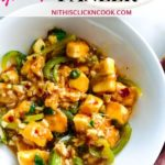 chilli paneer served in bowl