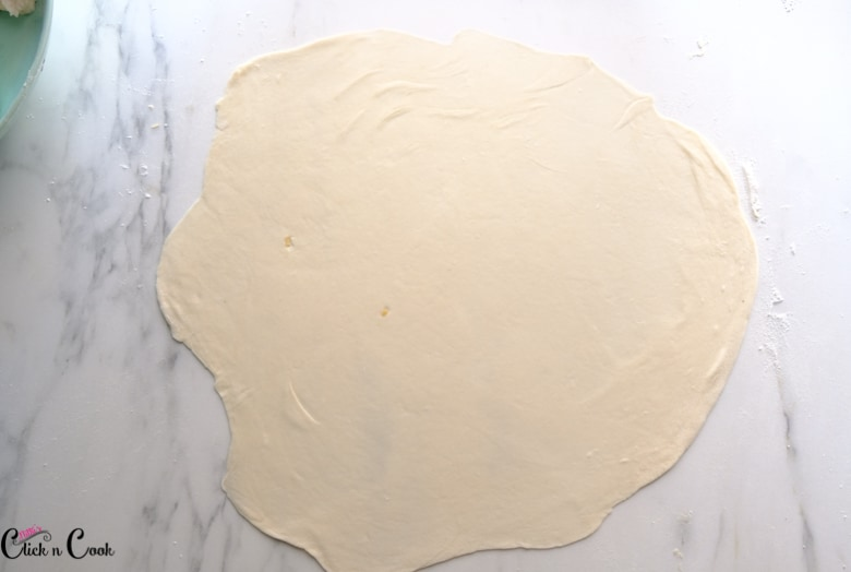 rolled dough on the white surface