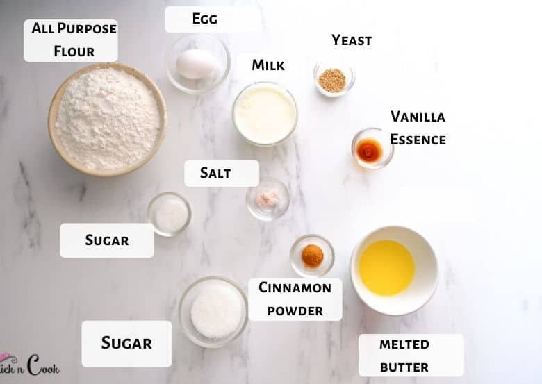 Cinnamon rolls ingredients