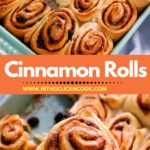 cinnamon rolls served in baking tray