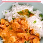 prawn curry served in bowl