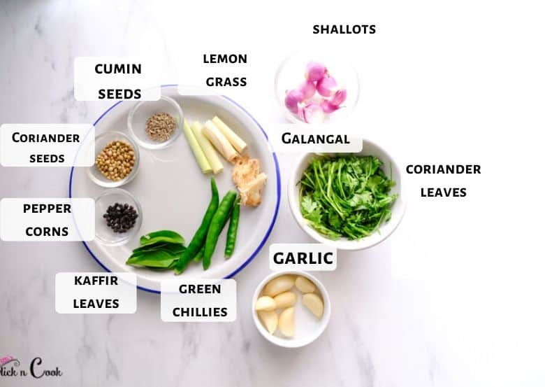 green curry paste ingredients