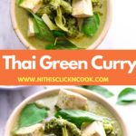 thai green curry served in the bowl