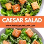 caesar salad served with Croutans