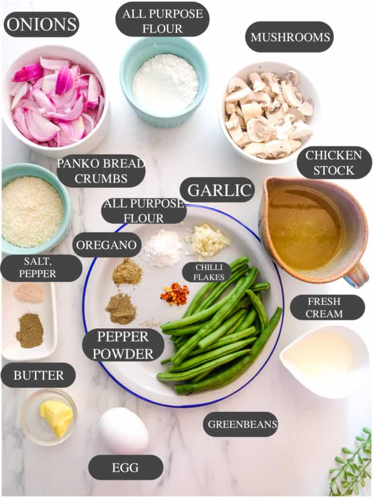 Greenbean casserole ingredients