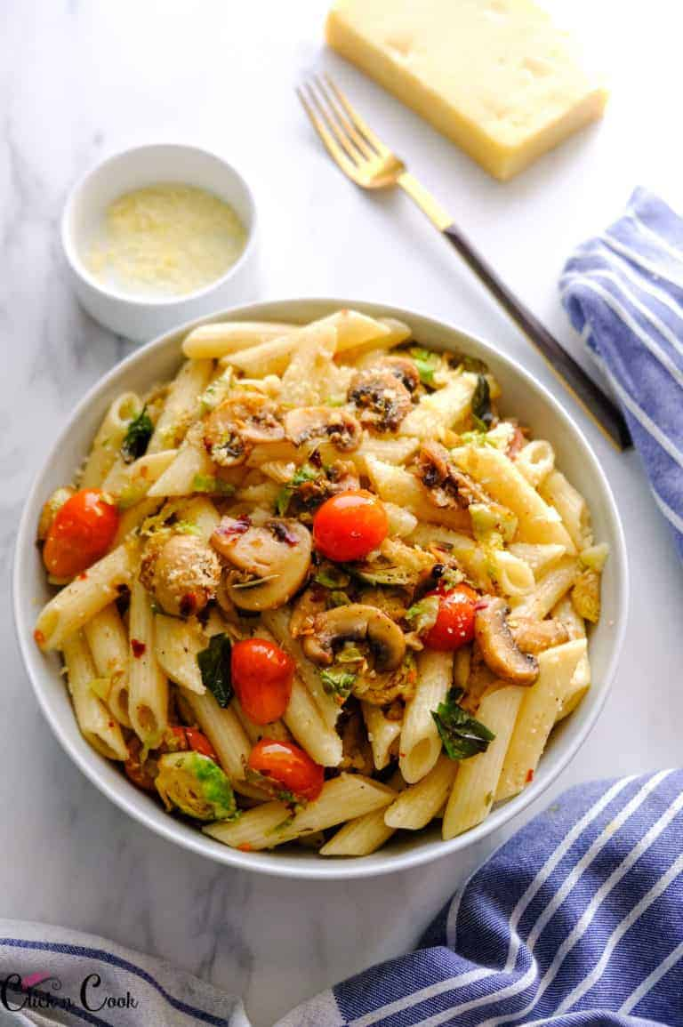 Brown Butter Brussel Sprouts Pasta