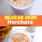 horchata served in glass
